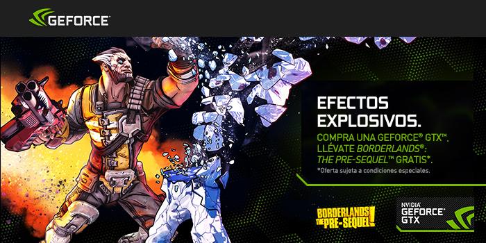 Por la compra de una Nvidia Geforce GTX, llévate Gratis Borderlands The Pre-Sequel