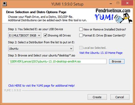Disco de arranque USB con Yumi
